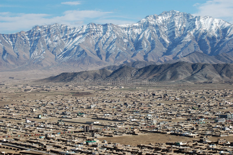 Kabul from air royalty free stock photo