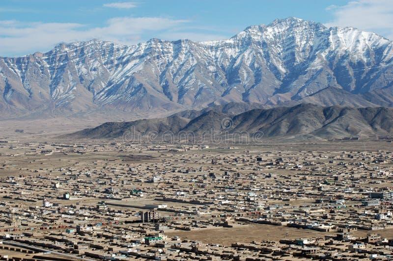 Kabul von der Luft lizenzfreies stockfoto