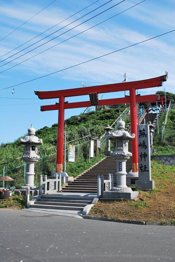 Kabushima shrine in Aomori royalty free stock photos