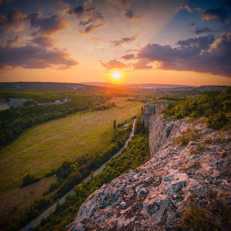 Kachi-Kalion solnedgång royaltyfri fotografi