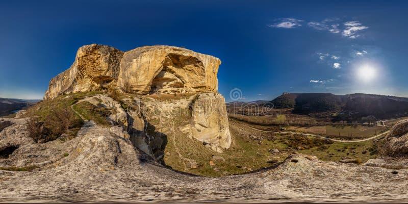 Kachi-Kalion Valley, Spherical 360 180 VR panorama royalty free stock photo