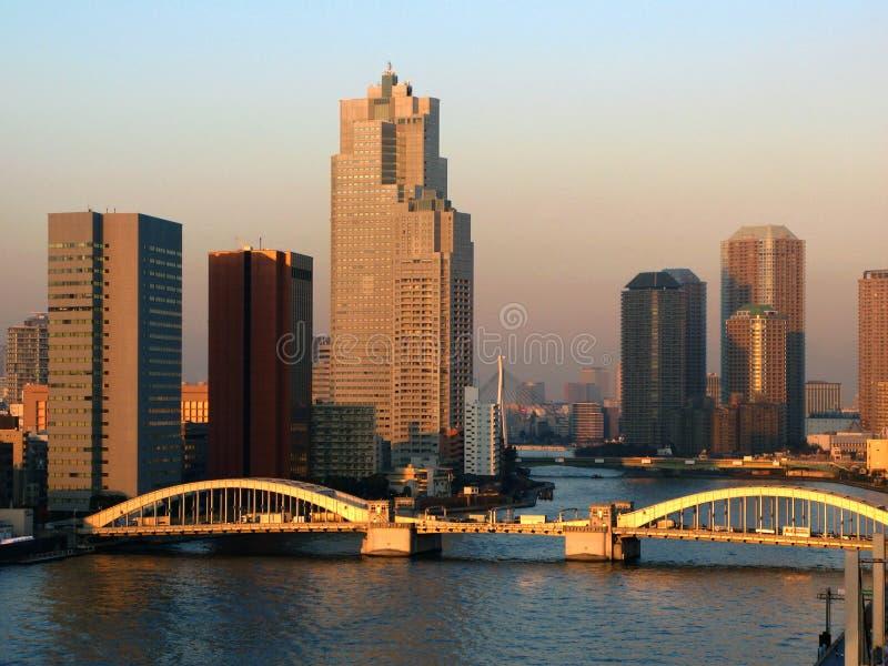 Kachidoki Brücke 02, Tokyo, Japan lizenzfreie stockbilder