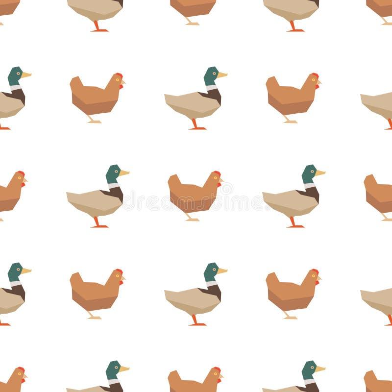 Kaczek i kurczaków bezszwowy wzór royalty ilustracja