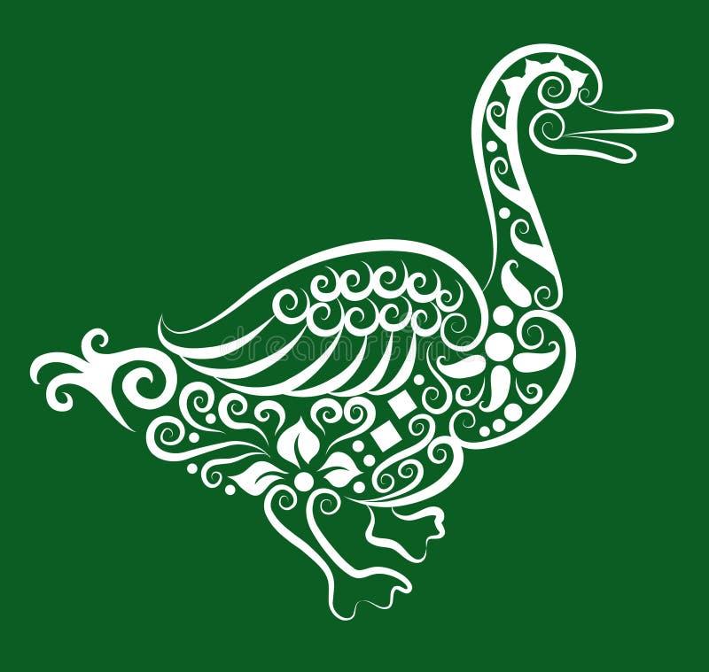 kaczka dekoracyjny ornament royalty ilustracja