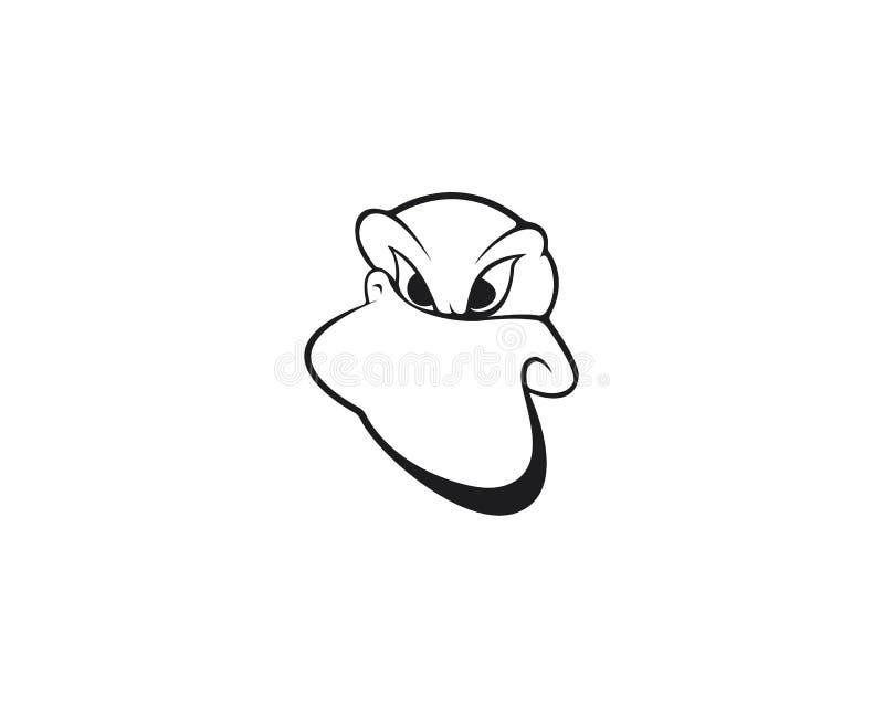 Kaczka logo szablonu ikony wektorowa ilustracja royalty ilustracja