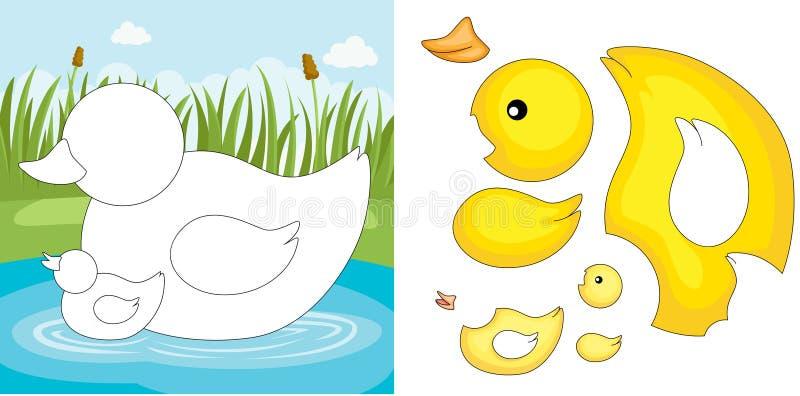 kaczki łamigłówka ilustracji