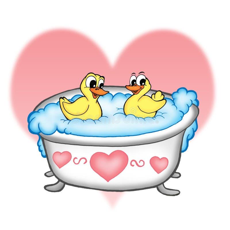kaczki łazienek royalty ilustracja