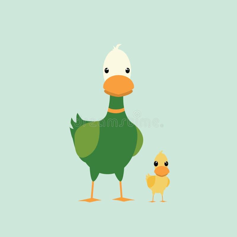 Kaczki i kaczątka charakter zdjęcie stock