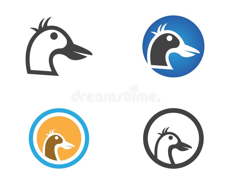 Kaczki ikony loga projekta wektoru kierownicza ilustracja royalty ilustracja