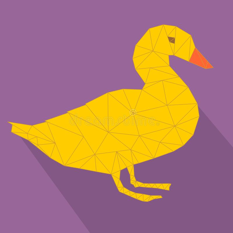 Kaczki ikony pojęcia wektor ilustracja wektor