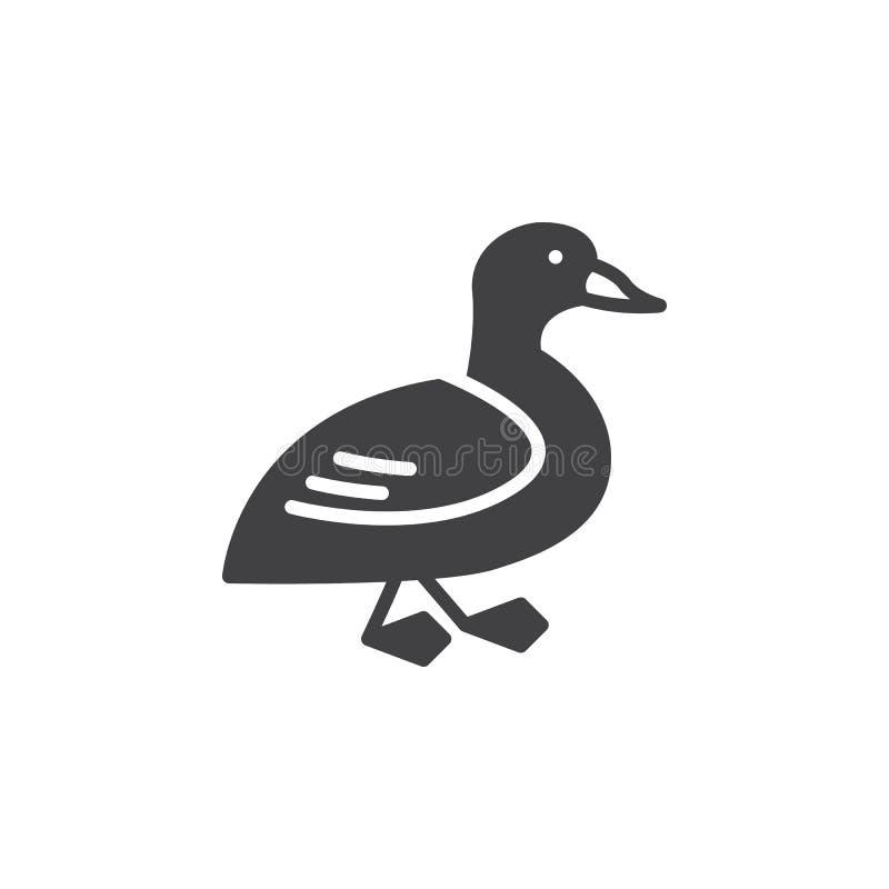 Kaczki ikony wektor, wypełniający mieszkanie znak ilustracja wektor