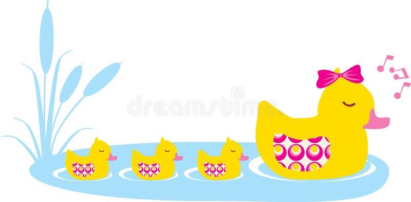 kaczki rodzina royalty ilustracja