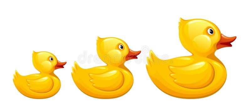 Kaczki rodzina ilustracji