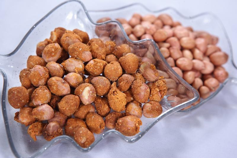 Kadaalai Masala, арахисы Masala, shenga Talelia, Masala поет, пряные арахисы стоковые фото