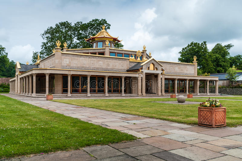 kadampa buddyjska świątynia fotografia stock