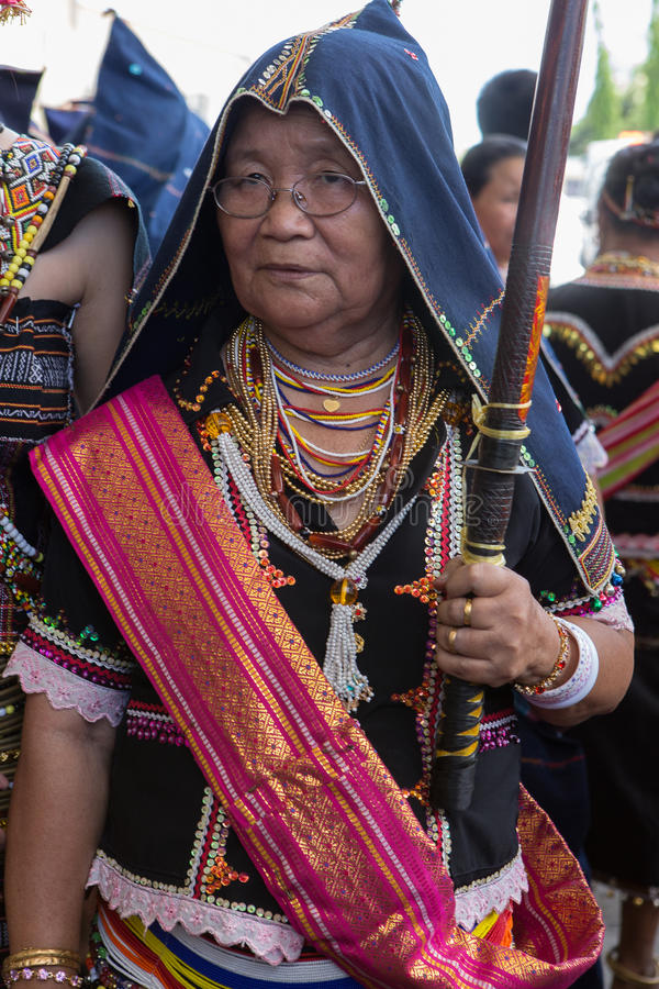 Kadazan dusun tradycyjny kostium fotografia stock