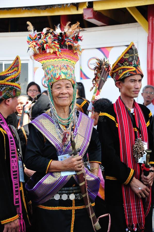 Kadazandusun Bobohizan lub Wysoka kapłanka, Sabah, Borneo obraz stock