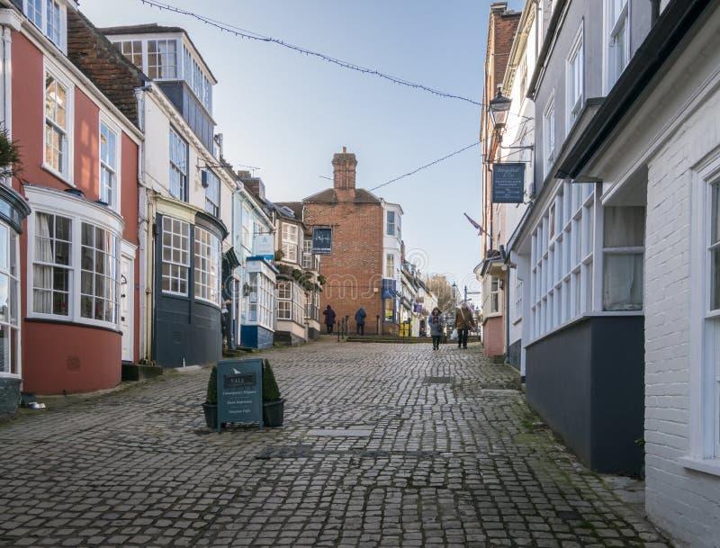 Kadeheuvel in Lymington, het UK royalty-vrije stock fotografie