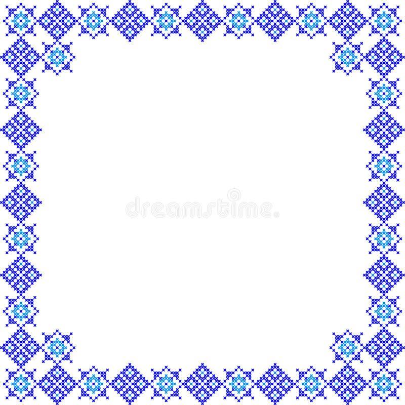 Kader, abstracte blauwe patronen royalty-vrije stock foto