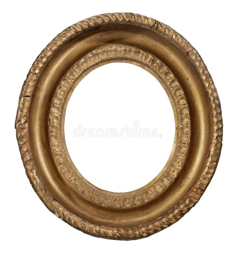 Kader antieke uitstekende ovale het hangen beeldbekendheid met het knippen van pa royalty-vrije stock foto