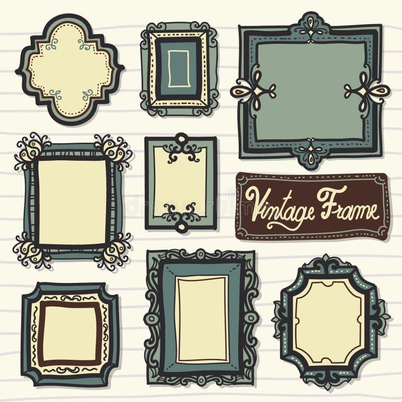 Kader Antieke Vector royalty-vrije stock afbeeldingen