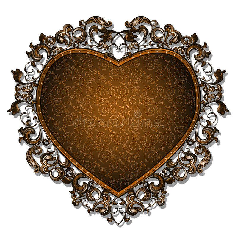 Kader in de vorm van hart voor beeld of foto vector illustratie
