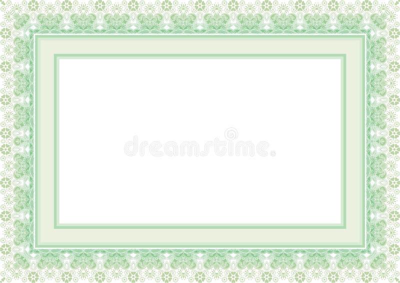 Kader/Grens met Aanbiddelijk ontwerp royalty-vrije illustratie