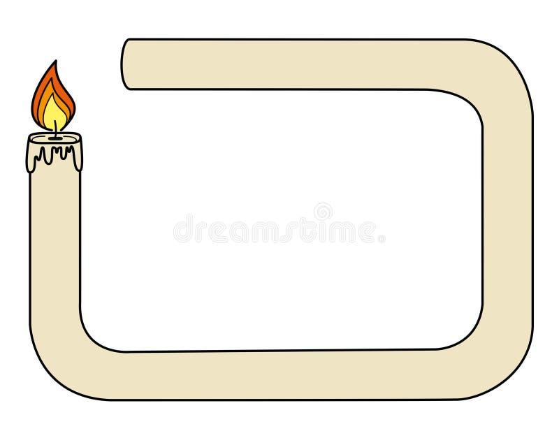 Kader - kaars stock illustratie