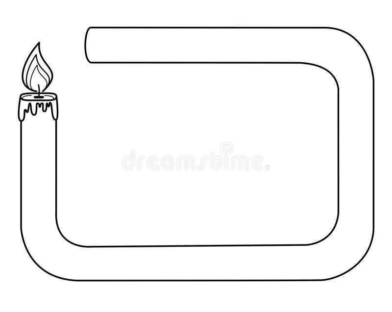 Kader - kaars vector illustratie