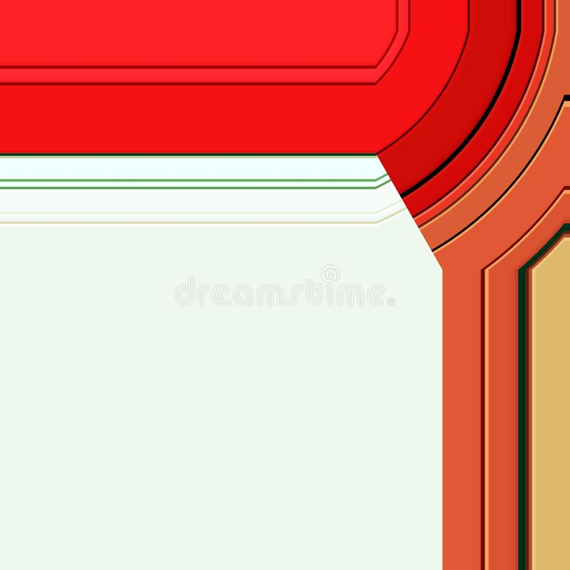 Kader levendig ontwerp in rode en oranje tinten royalty-vrije illustratie