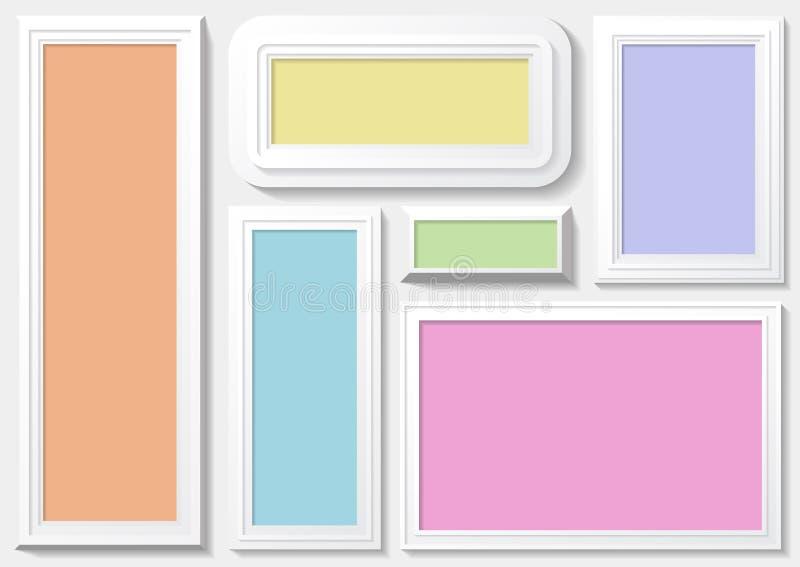 Kader met colorfuulachtergrond stock illustratie