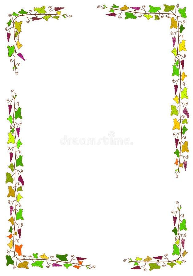 Kader met druiven royalty-vrije illustratie