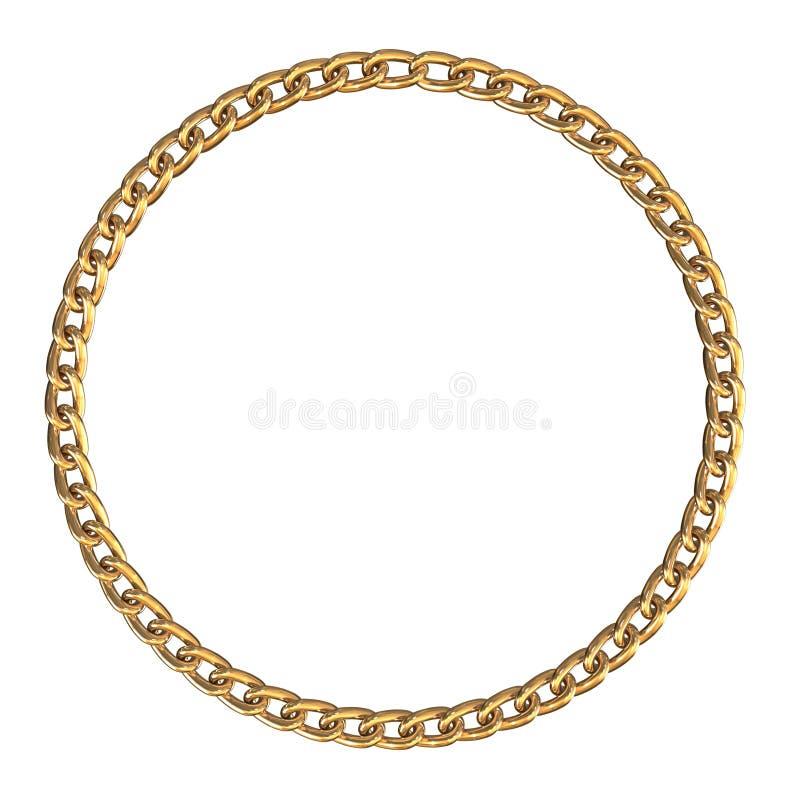 Kader met gouden ketting royalty-vrije illustratie