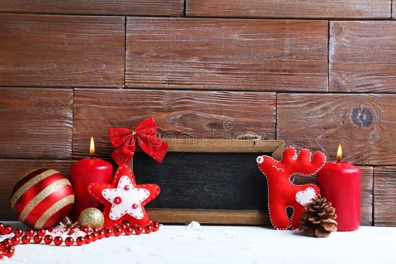 Kader met Kerstmisdecoratie royalty-vrije stock foto's