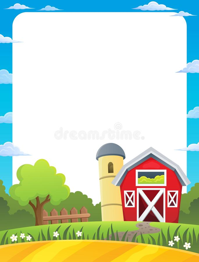 Kader met landbouwgrondthema 1 royalty-vrije illustratie