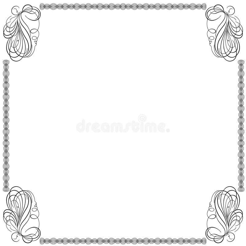 Kader met werveling doorweven lijnen royalty-vrije illustratie