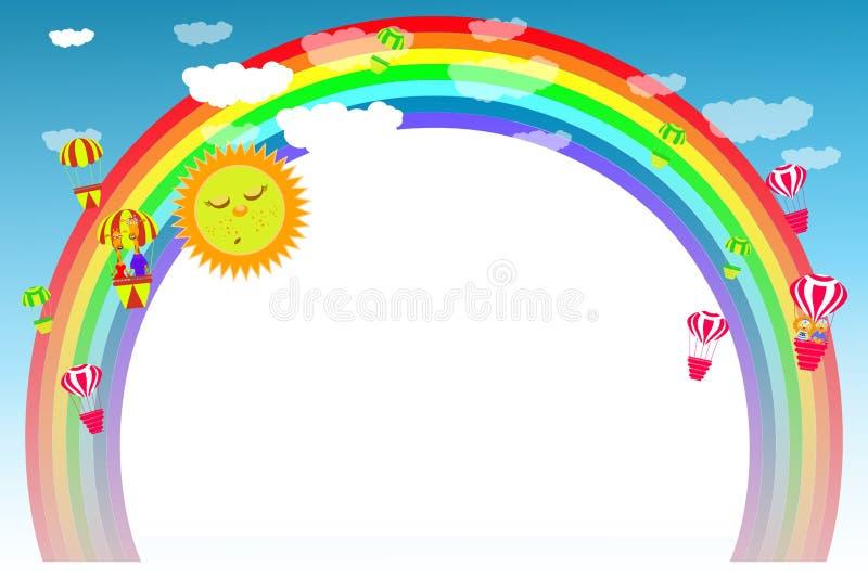 Kader onder kleurrijk vector illustratie