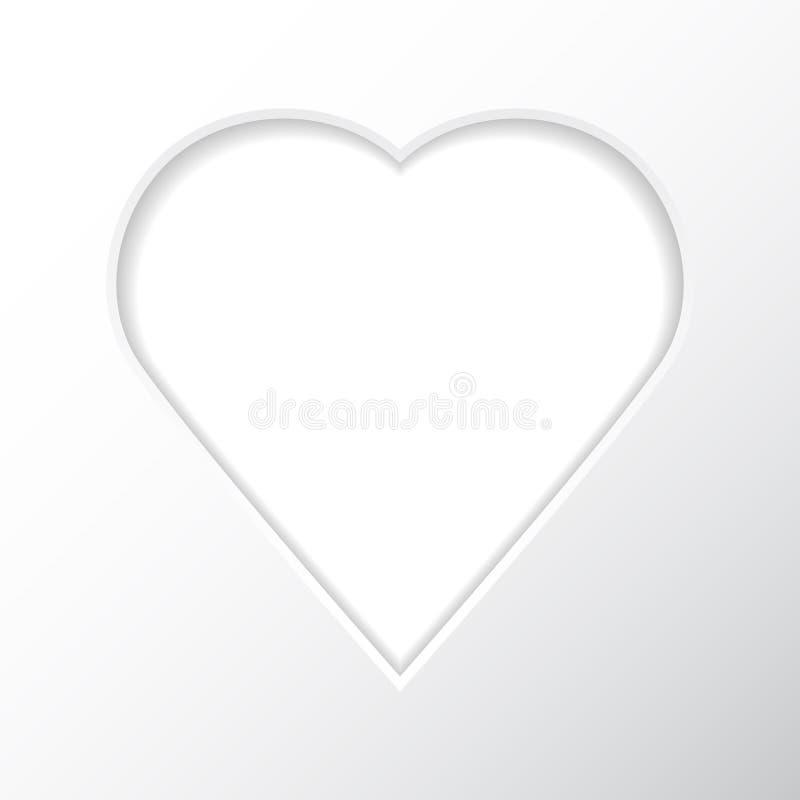 Kader op een witte achtergrond in de vorm van een hart voor uw foto's vector illustratie