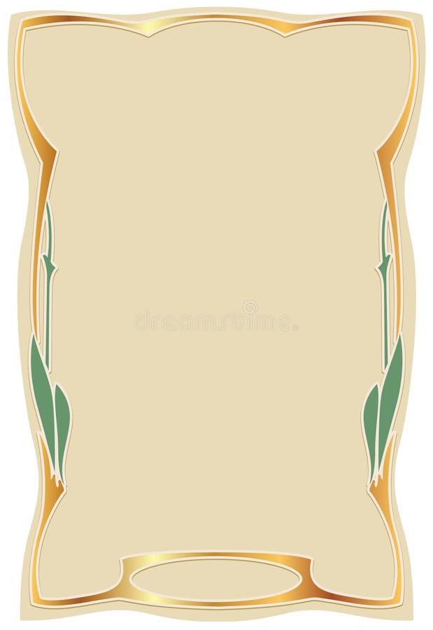 Kader in stijlkunst -kunst-nouv vector illustratie