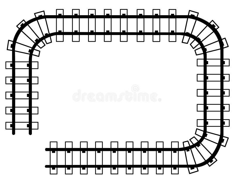Kader - treinsporen royalty-vrije illustratie