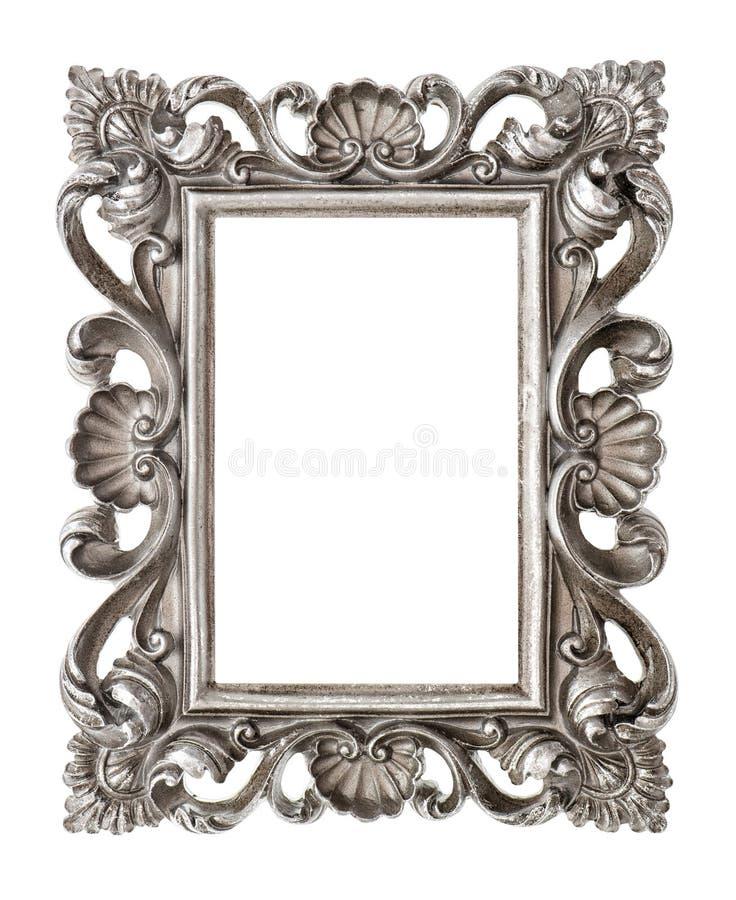 Kader uw beeld, foto, beeld Uitstekend zilveren barok voorwerp stock foto