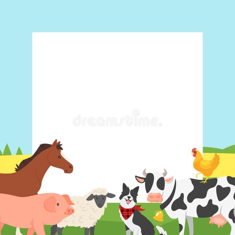 Kader van de landbouwbedrijf het videofoto vector illustratie