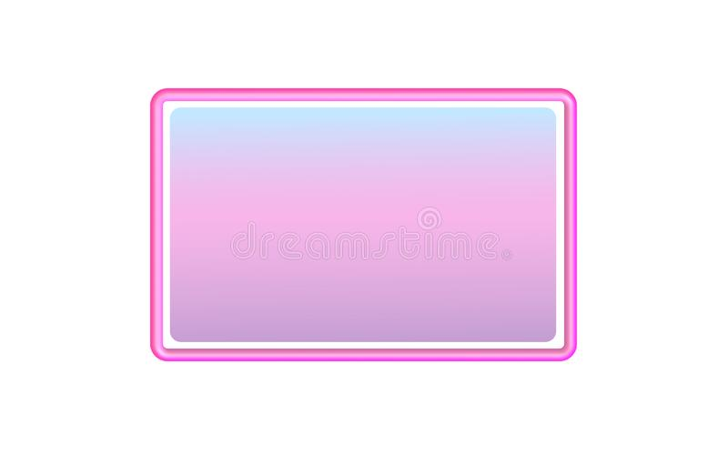 Kader van de neon het plastic gradiënt Rechthoekig frame Vector royalty-vrije illustratie