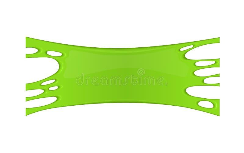 Kader van groen kleverig slijm royalty-vrije illustratie