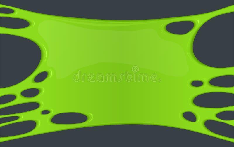 Kader van groen kleverig slijm stock illustratie