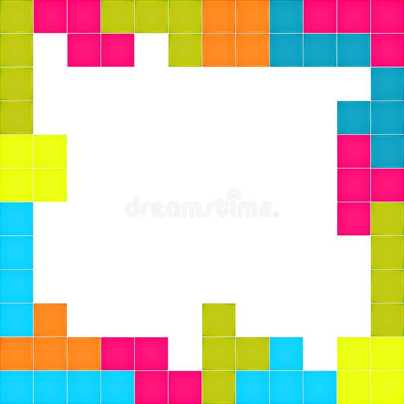 Kader van kleurrijk blokkenraadsel dat wordt gemaakt vector illustratie