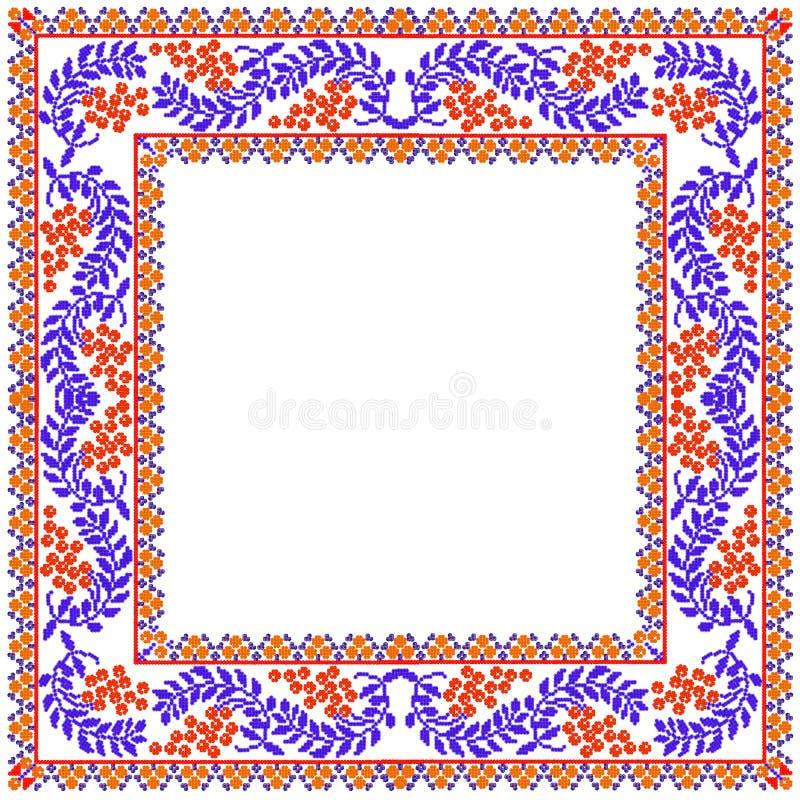 Kader van mozaïek het rode bessen royalty-vrije stock afbeelding