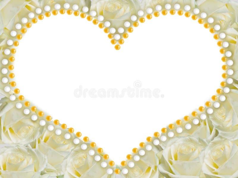 Kader van rozen in de vorm van een hart dossier PNG stock illustratie