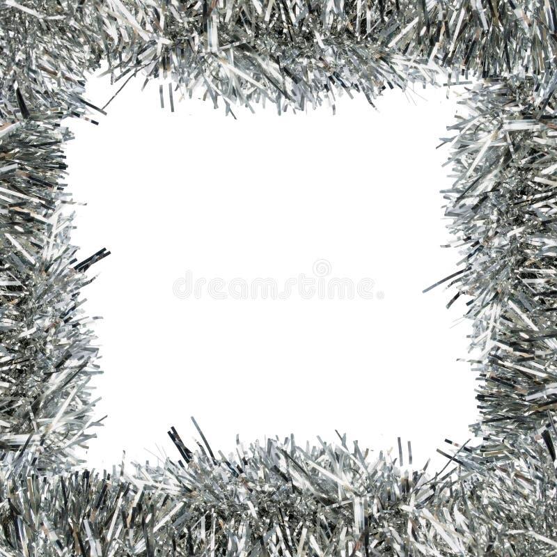 Kader van zilveren klatergoud stock foto
