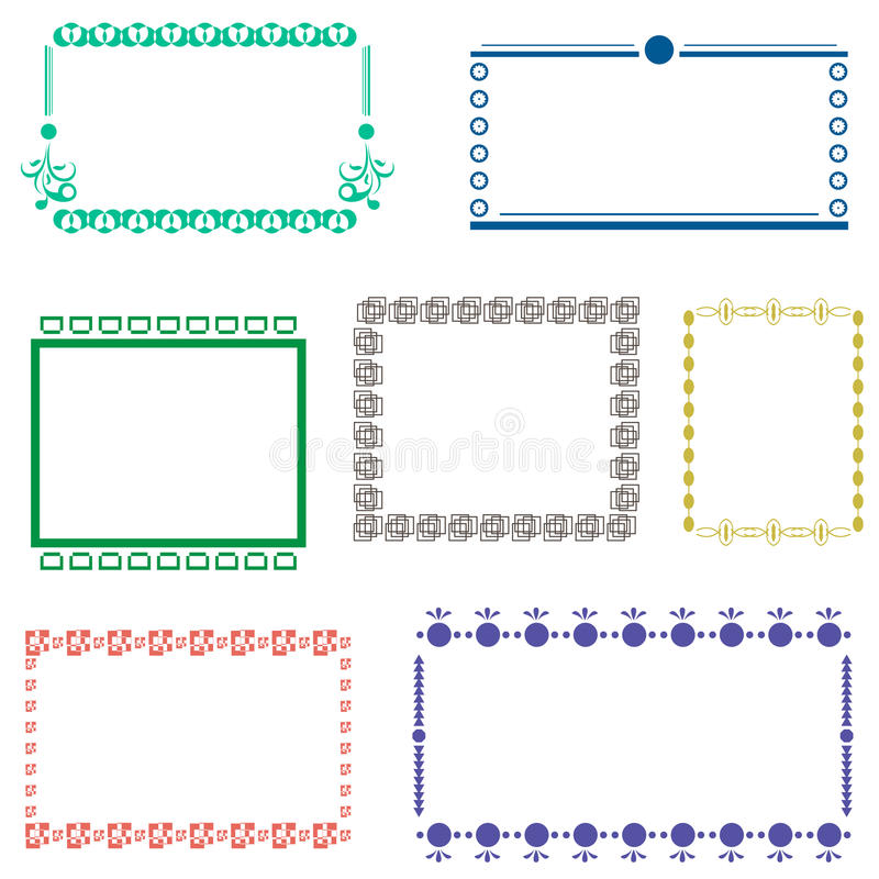 Kader vastgestelde vector royalty-vrije illustratie